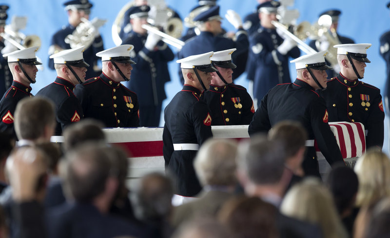 The remains of the four Americans killed in an attack on the U.S. Consulate in Libya are returned Friday in a ceremony at Andrews Air Force Base.