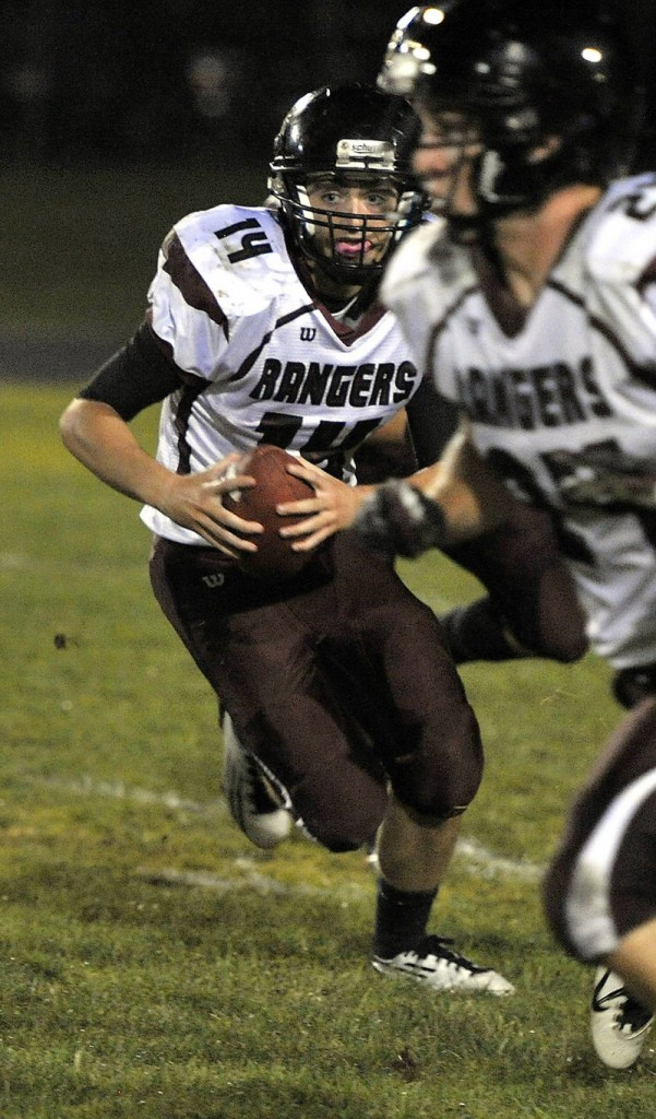 Greely quarterback Drew Hodge passed for 187 yards and three touchdowns Friday night as the Rangers sent Westbrook to its first setback, 33-12.
