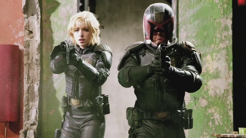 "Olivia Thirlby and Karl Urban in ""Dredd 3D."