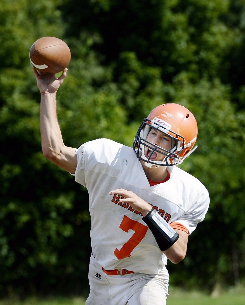Nick LeBlond as a youngster envisioned himself as the Biddeford High quarterback, and that's what he's become. He's also the student body president.