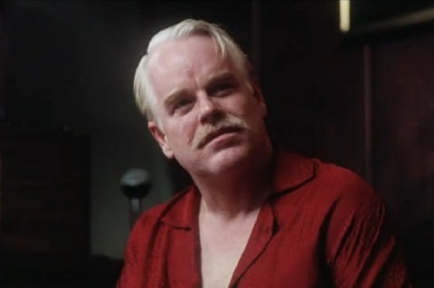 "Philip Seymour Hoffman in ""The Master."""