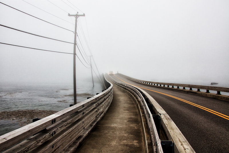"""""""Yellow Line,"""" a photograph by Rob Smith, from an exhibition by Maine Art Gallery artists continuing through Oct. 30 at Atlantic Motorcar in Wiscasset."""