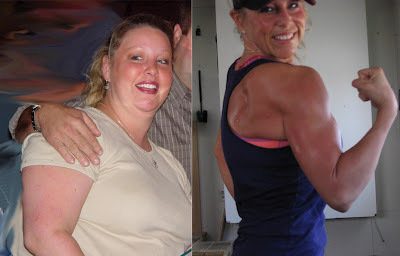 Jen Small, before and after.