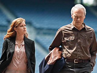 "Amy Adams and Clint Eastwood in ""Trouble with the Curve."""