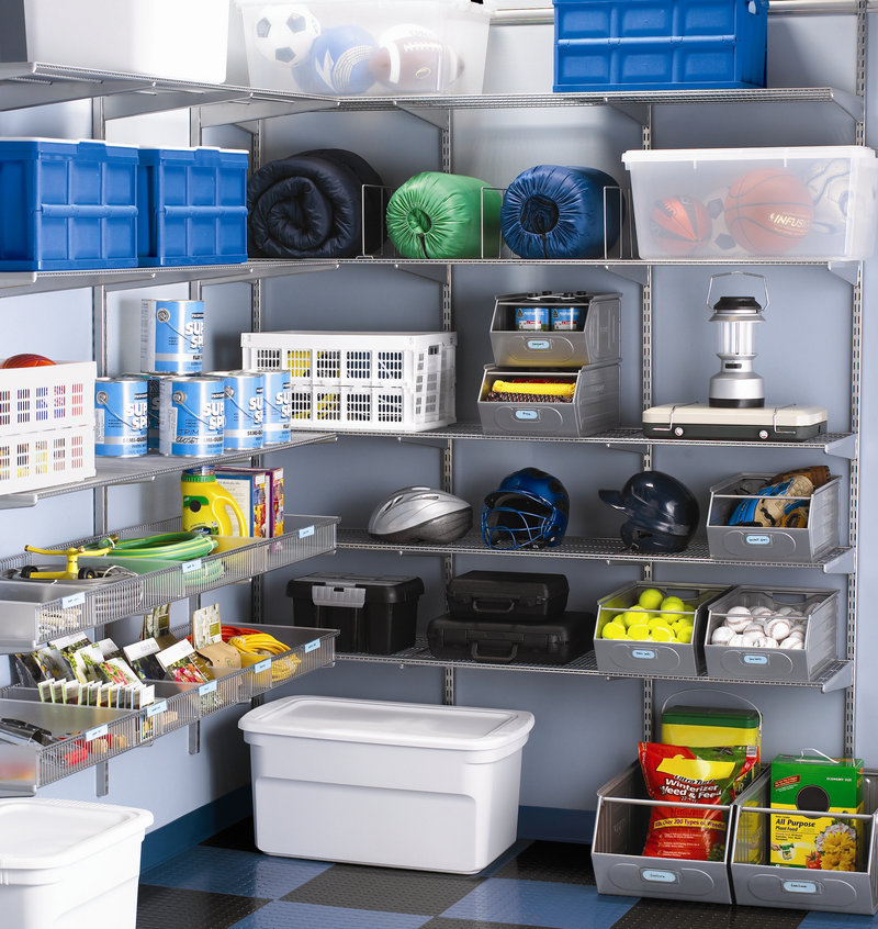 Whether your garage is just slightly disorganized or looks more like an overstuffed storage unit, fall is an ideal time to give the parking pad a much-needed tune-up. Storage by The Container Store.