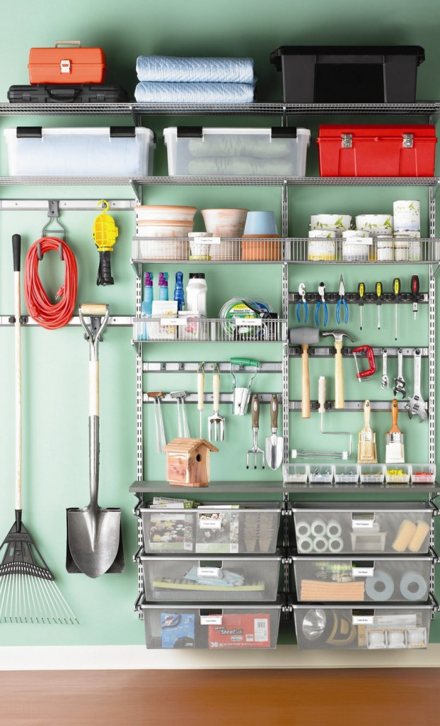 Garage shelving and storage from The Container Store.