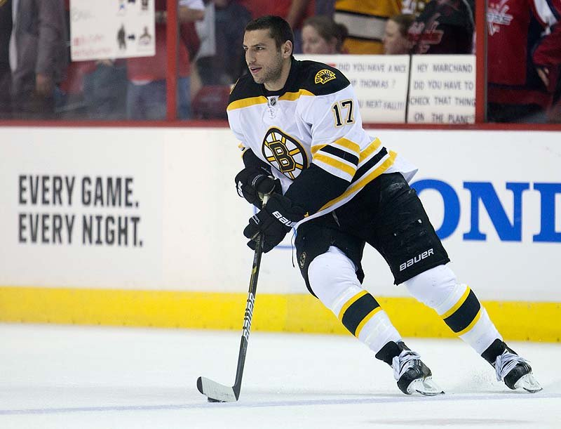 Milan Lucic of the Bruins received a three-contract extension, making him the team's highest-paid forward.