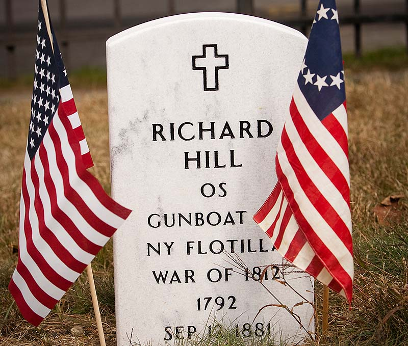 A new stone marks the grave of Richard Hill, an African-American veteran of the War of 1812 who died in 1861, at Eastern Cemetery in Portland. The gravestone has the wrong year of Hill's death.
