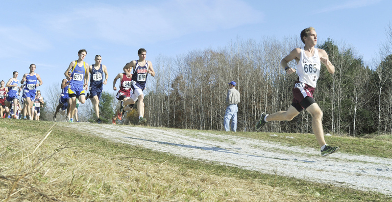 Runners set their pace in the Class C boys' race, won by Merriconeag's Jack Pierce.