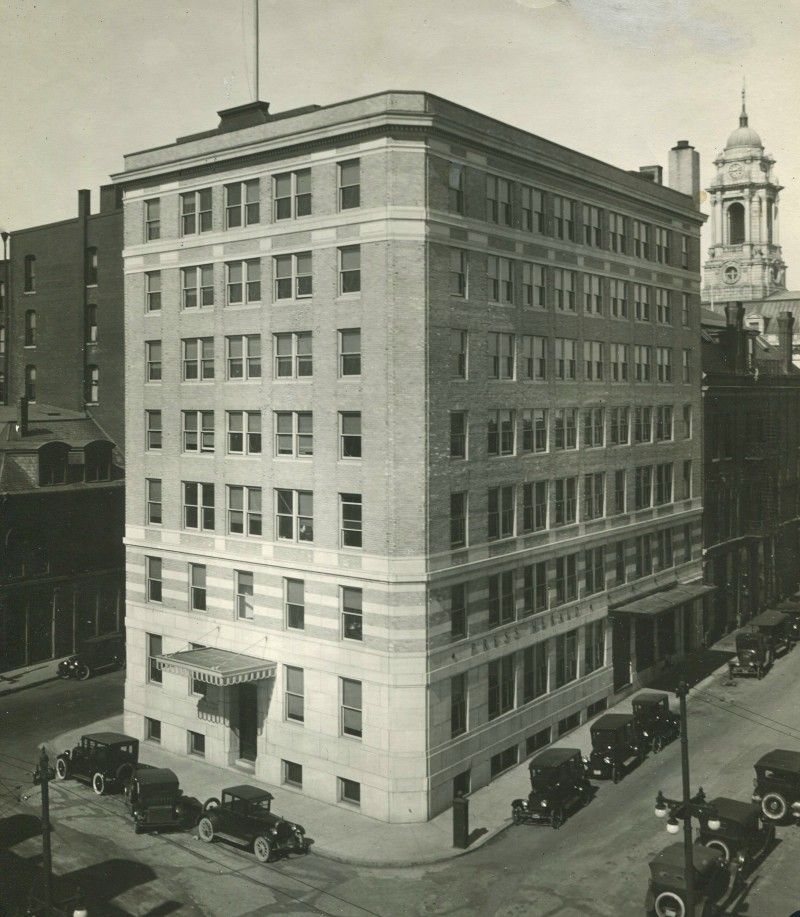 For many years, the Press Herald was housed on Congress Street in Portland. After that building was sold to a developer in 2009, headquarters became offices in the One City Center complex.