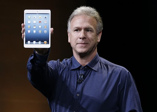Phil Schiller, Apple's senior vice president of worldwide product marketing, introduces the iPad mini in San Jose, Calif., on Tuesday.