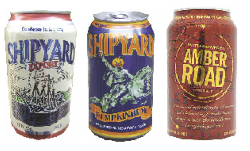 The Let's Get Canned dinner on Nov. 6 at the White Cap Grille in Portland will feature Shipyard Export, Pumpkinhead and Baxter Amber Road in cans.