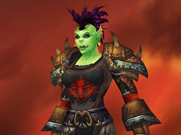 An image of Colleen Lachowicz's character in World of Warcraft.