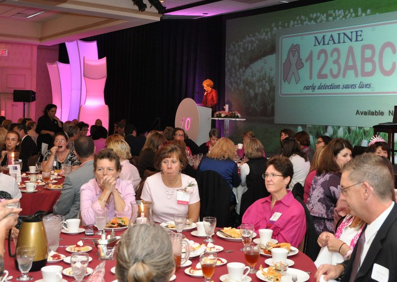 Guests at last year's Cure Breast Cancer for ME Luncheon. This year's luncheon, which benefits the Maine Cancer Foundation and honors survivors, community members and health care professionals, will feature a strictly plant-based meal.