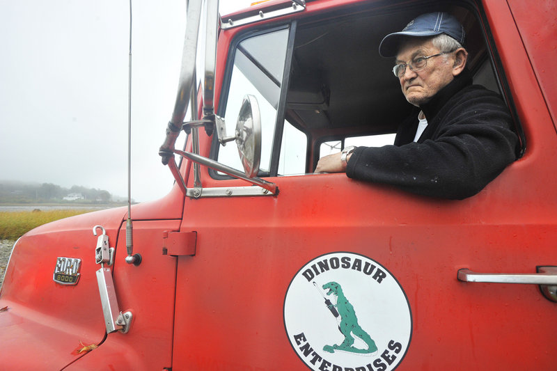 Ted Weber delivers heating oil and kerosene to residents of Great Diamond and Little Diamond islands. He also supplies gasoline. Great Diamond, where he lives, is zoned residential, so he's hoping to persuade Portland to change the zoning.