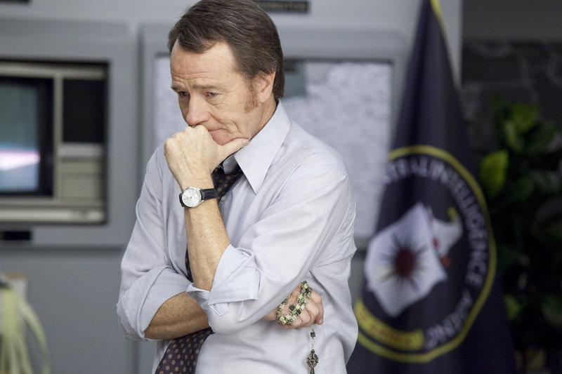"Bryan Cranston plays a volcanic CIA boss in ""Argo."""