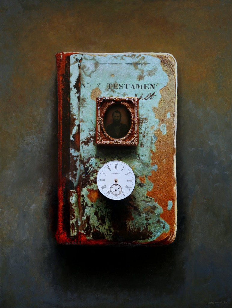 "John Whalley's ""Testament"" is among his 20 pieces in the show ""World of Wonders"" at Portland's Greenhut Galleries."