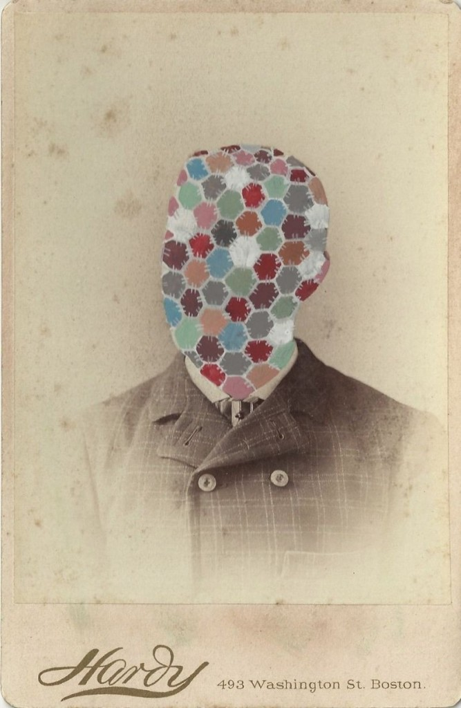 "Tom Butler's ""Hex,"" gouache on Victorian albumen print"
