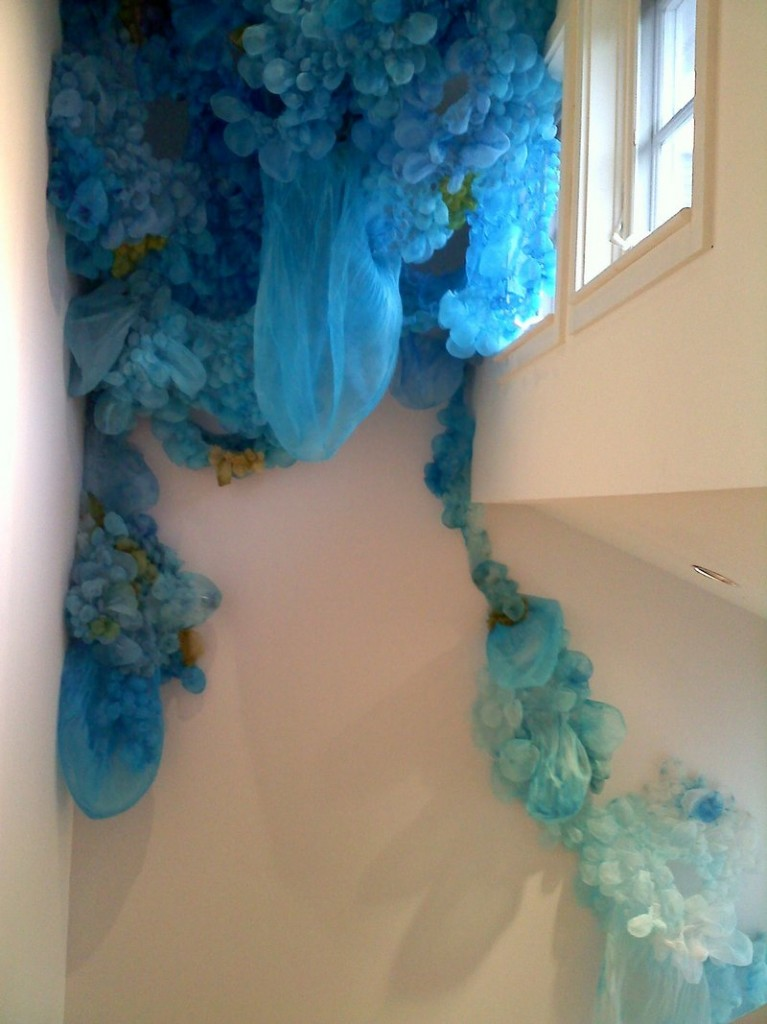"Lisa Kellner's ""Ice Melt's Tyrant Spell,"" hand-painted and sewn silk"