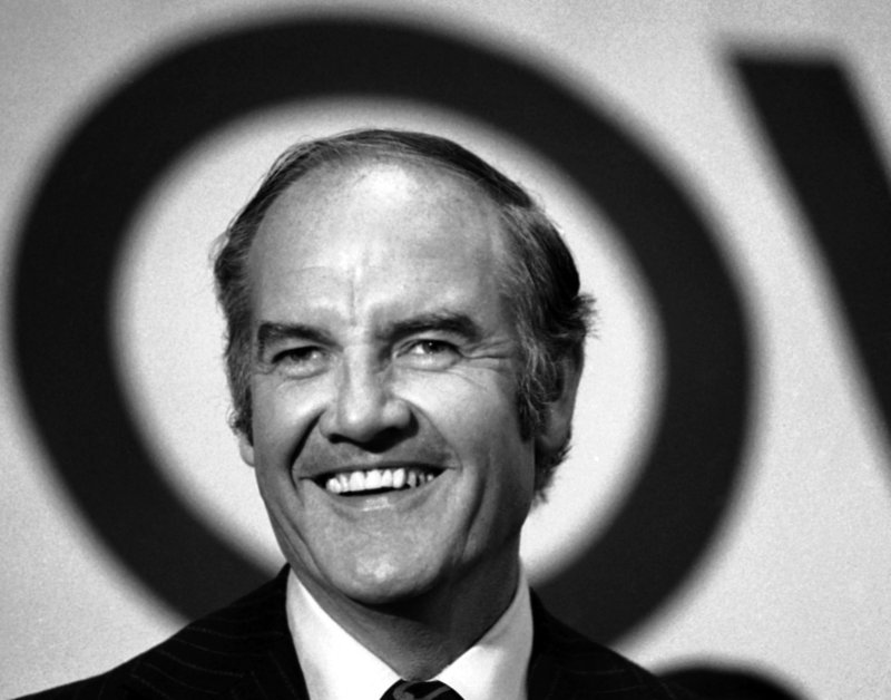 Presidential candidate Sen. George McGovern, D-S.D., addresses hospital and health care workers in New York on Oct. 4, 1972. A little more than a month later, Republican incumbent Richard Nixon was re-elected in a landslide.