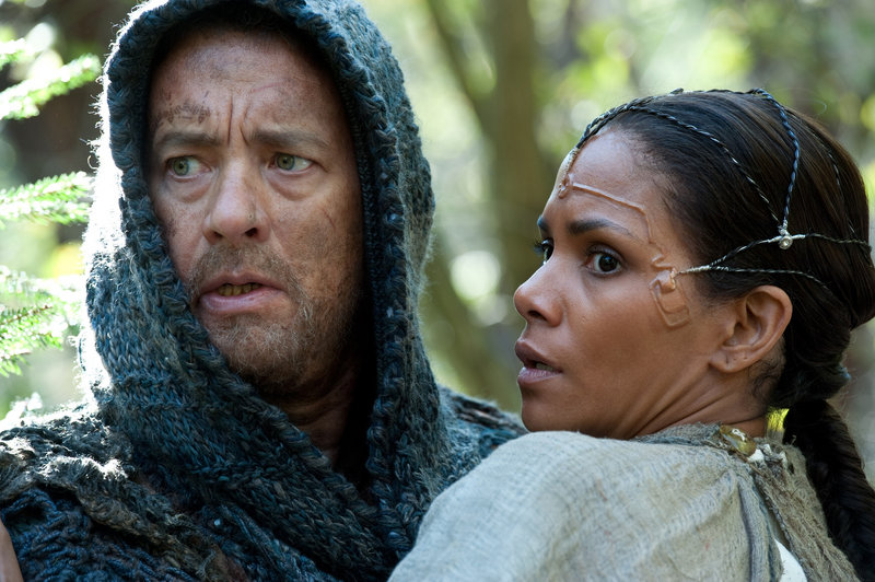 "Tom Hanks and Halle Berry in ""Cloud Atlas,"" a movie Berry says reminds her that what we do reverberates throughout time."