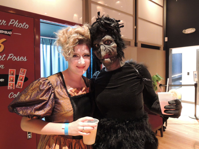 Anna Kemner of Boston, as a witch, and makeup artist Natali Hudson of Portland, as The Crow, the costume awarded the grand prize