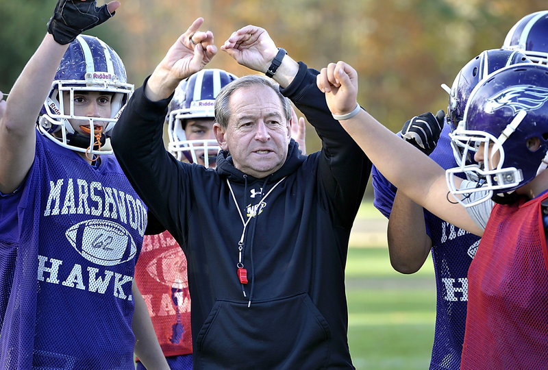 Alex Rotsko was surrounded by more than 100 players on his teams in Massachusetts. It's not quite the same in South Berwick, where he even has a freshman on his team for the first time. But guess what? Marshwood is the No. 1 seed in the Western Class B playoffs, with a 7-1 record.