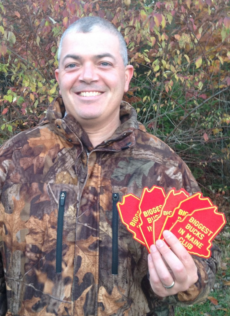 Joe Saltalamachia of Unity shows off his five patches recognizing his tagging of five big bucks.