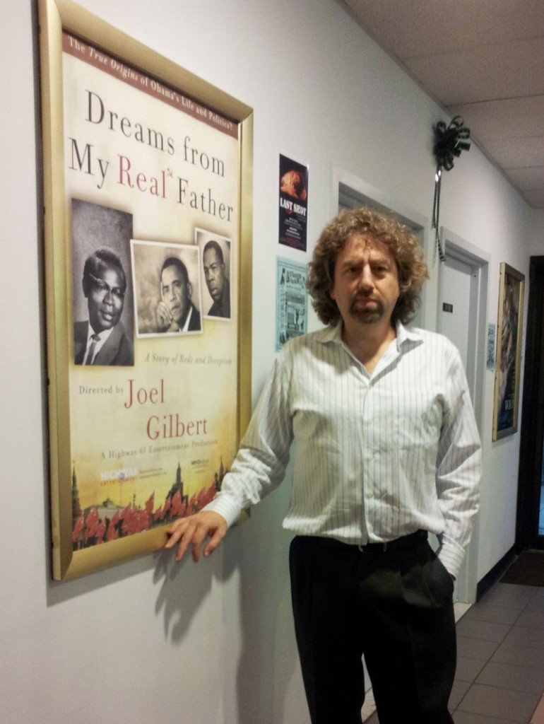 "Joel Gilbert attends a screening of his movie ""Dreams from My Real Father"" in Bellmore, N.Y., in September. The film, mailed to 7 million homes, claims that President Obama's real father was Frank Marshall Davis, a communist agitator, author and poet who lived in Hawaii, not the former Kenyan who shares the president's name."
