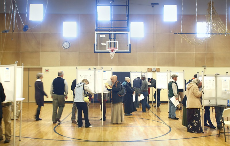 High voter turnout at the East End Elementary School in Portland on Tuesday morning November 6, 2012. Tim Greenway/Staff Photographer
