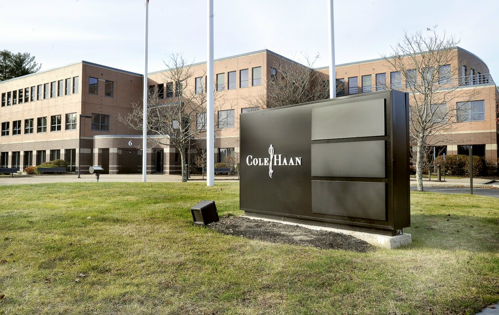 The Cole Haan facility at 6 Ashley Drive in the Roundwood Business Park in Scarborough is shown Friday. Nike Inc. announced it has agreed to sell the maker of shoes and accessories to a private equity firm.