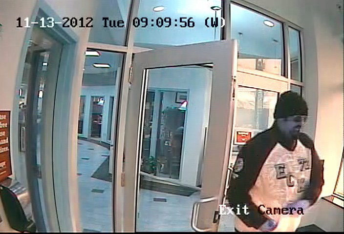 This surveillance photo shows the man Portland Police say robbed the Bangor Savings Bank branch on Brighton Avenue this morning.