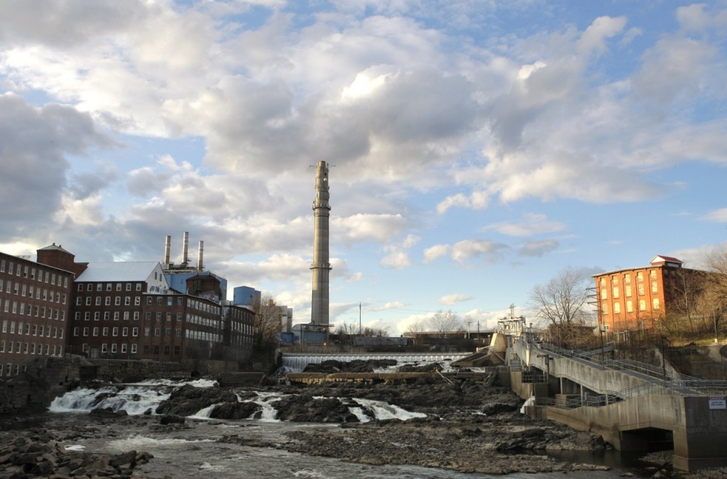 An April 4, 2012, photo of the Maine Energy Recovery Company in downtown Biddeford. The plant is sited in the city's sprawling mill complex along the Saco River and has been operating in the city since 1986.