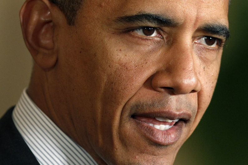 President Obama speaks about the economy and the deficit on Friday at the White House.