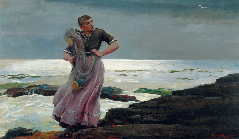 """A Light on the Sea,"" painted in 1897 by Winslow Homer, from ""Weatherbeaten: Winslow Homer and Maine,"" continuing through Dec. 30 at the Portland Museum of Art."