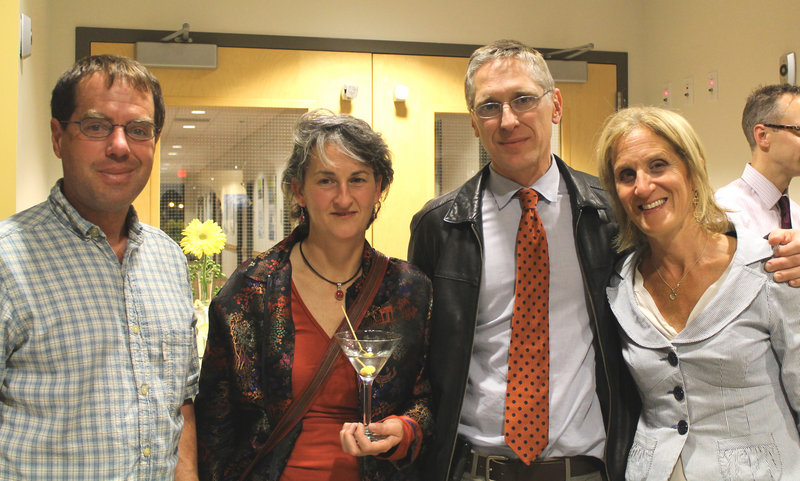 Hal Kingsbury of Cape Elizabeth, Jennifer Powers of New Gloucester, Dr. Moritz Hansen, and Suzanne Fox of Falmouth.
