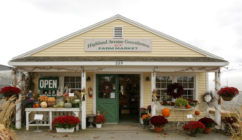 "A winter farmers market will be held at Highland Avenue Greenhouse and Farm Market in Scarborough on Sundays. ""We have to stick together in this economy and this makes people aware of local agriculture and buying local,"" owner Joe Viscano said."
