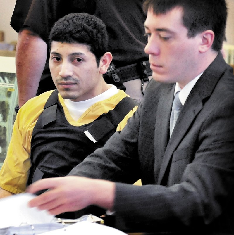 "Juan Contreras, shown with his attorney earlier in his trial, told Justice Michaela Murphy Thursday, ""It's what's right,"" during questioning on changing his plea to guilty."