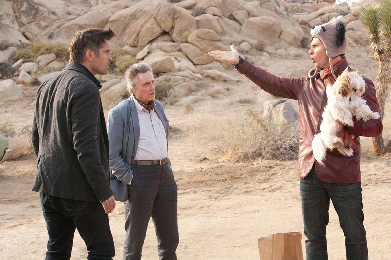 "Colin Farrell, left, Christopher Walken and Sam Rockwell in ""Seven Psychopaths."""