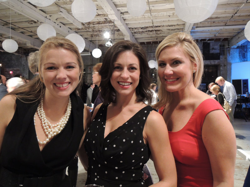 SailMaine Soiree organizing committee member Carlisle McLean with Portland residents Michelle Cianchette and Erin Ovalle.
