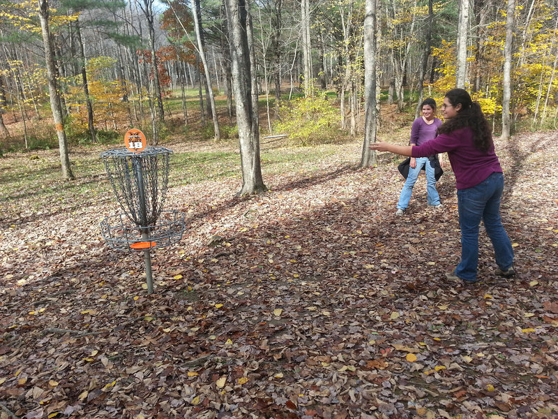 Disc golf is the perfect way to keep connected with teenagers while also enjoying a hike and a few hours in the outdoors. It's also as competitive as you want it to be.