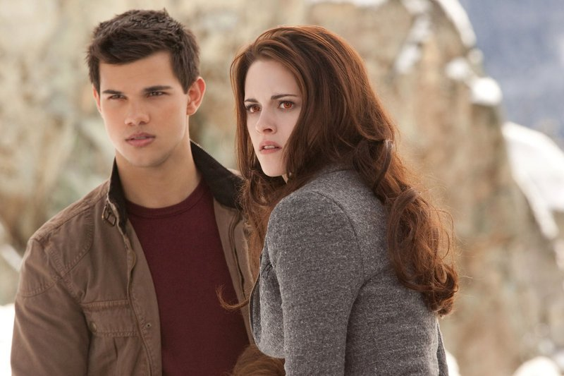 "Taylor Lautner and Kristen Stewart in the final chapter of ""The Twilight Saga."""