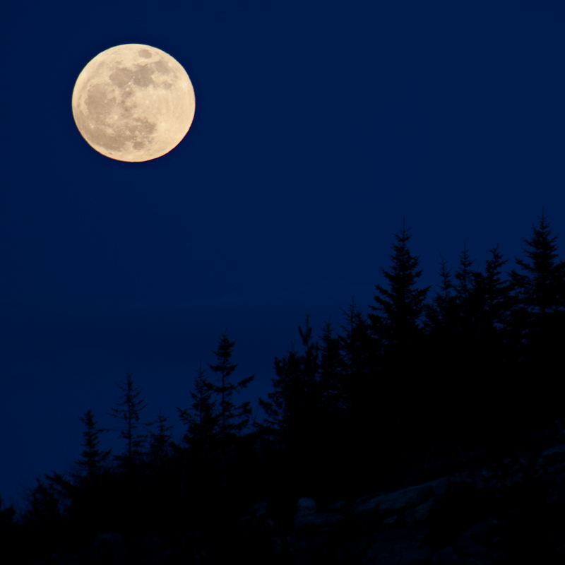 """""""Milk Moon (Acadia)"""" by Jim Nickelson, archival digital print, at Jonathan Frost Gallery in Rockland."""