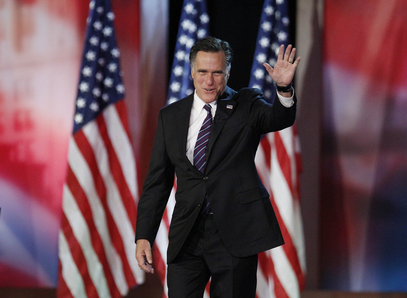 Republican presidential candidate Mitt Romney takes the stage to concede victory. The former Massachusetts governor has quickly become persona non grata to a shell-shocked party anxious to rebuild.