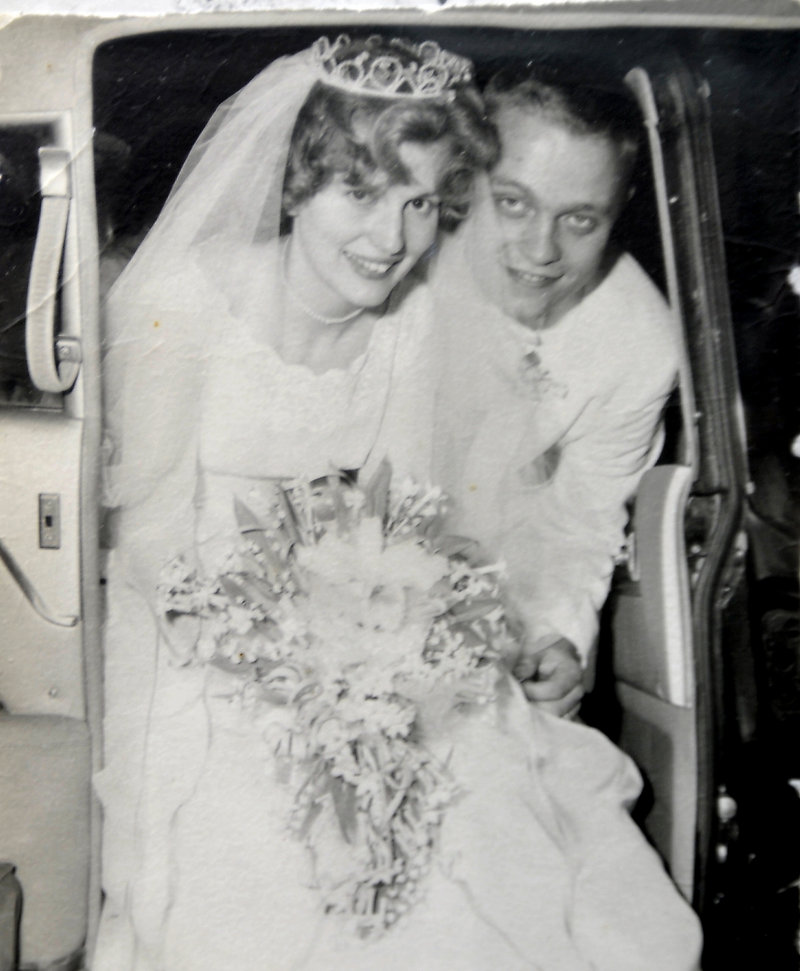 The Seekamps on their wedding day in 1960.