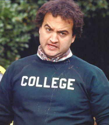 "For the ""Animal House"" disciple, a replica of Bluto Blutarsky's ""College"" sweat shirt."