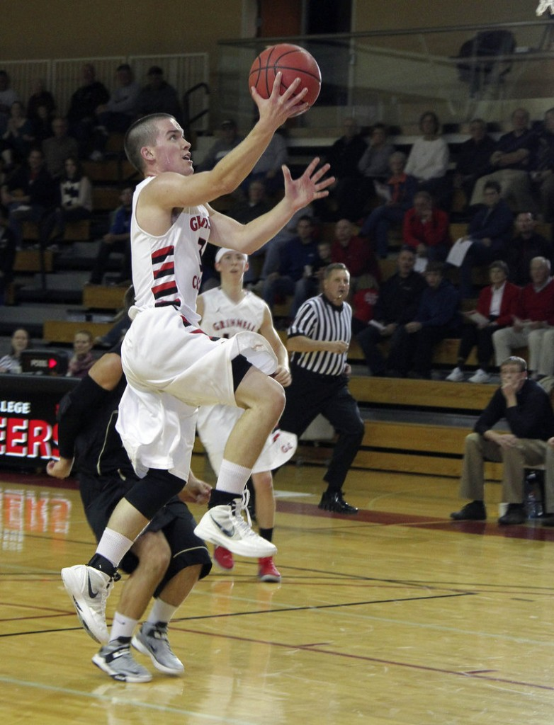 Jack Taylor hit 27 3-pointers during his 138-point game Tuesday night. But other times he settled for a simple layup for Grinnell College.