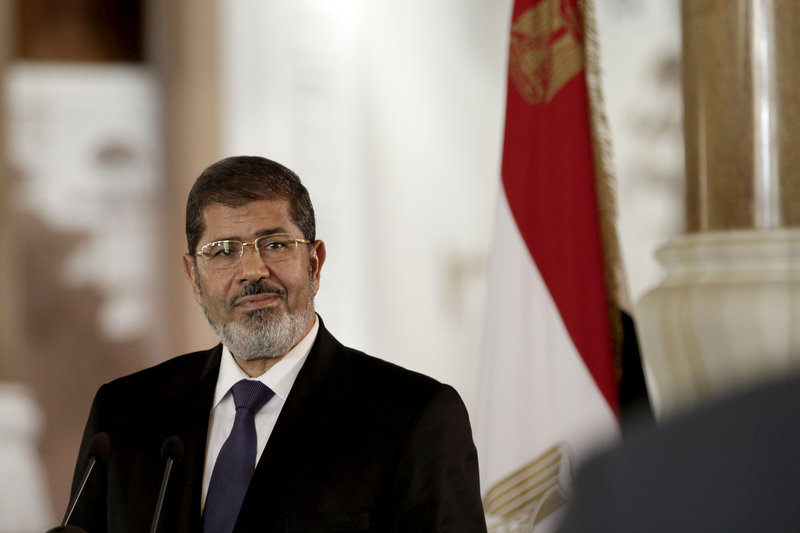 Egyptian President Mohammed Morsi issued constitutional amendments Thursday that put him out of reach of judicial oversight.