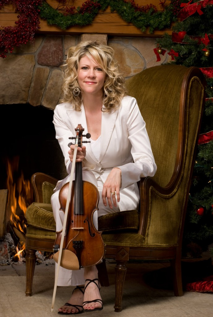 "Fiddler Natalie MacMaster performs a holiday concert, ""Christmas in Cape Breton,"" on Tuesday at Merrill Auditorium in Portland."