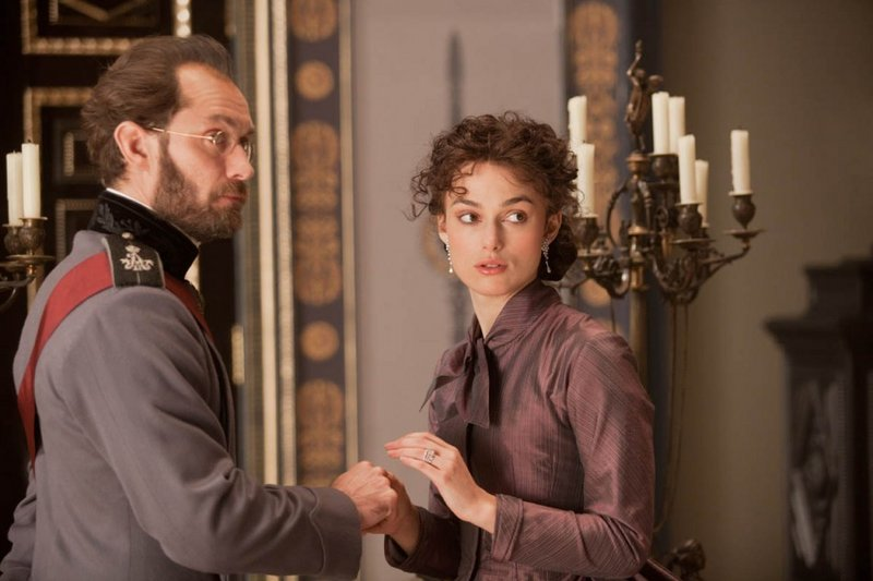 "Jude Law is Alexei Karenin and Keira Knightley is Anna in ""Anna Karenina."""